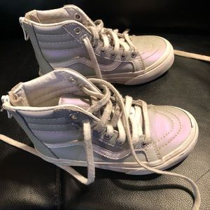 VANS High Top SHOES SNEAKERS light purple Sz. 10.5